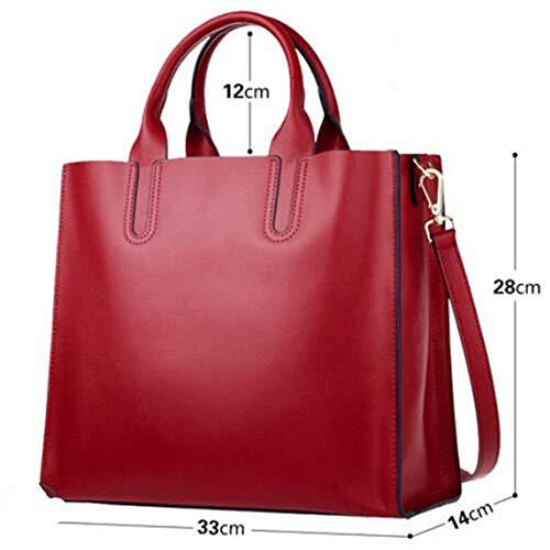 Nuova Moda Tote Bag Estate Atmosferica Borsa Una Spalla Crossbody Borsa Grande Borsa Donna In Pelle,Black Red