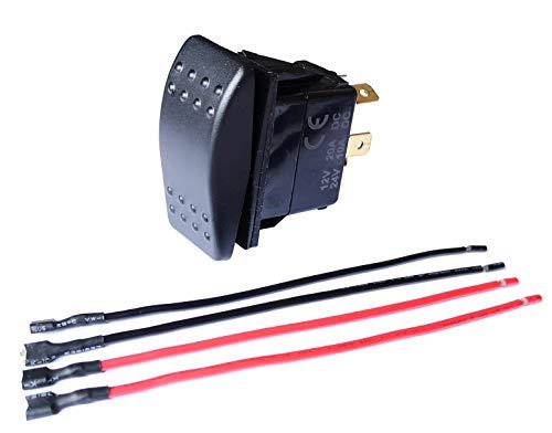 BANDC Momentary Motor Polarity Reverse reversing Rocker Switch Control DPDT DC 12V or 24V (1 PCS)