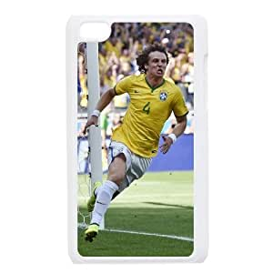 David Luiz For Ipod Touch 4 Case Cell phone Case Zojg Plastic Durable Cover
