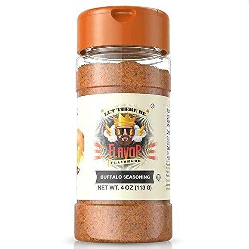 #1 Best-Selling 5oz. Flavor God Seasonings - Gluten Free, Low Sodium, Paleo, Vegan, No MSG (Single Seasoning) (Buffalo Seasoning, 1 Bottle)
