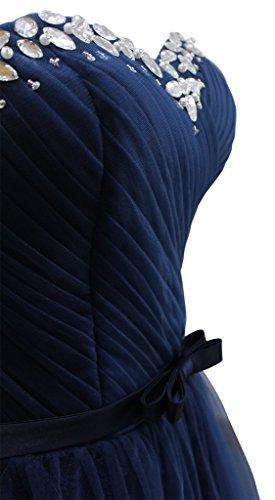 Türkis Drasawee Kleid Damen Marineblau Bandeau WqqU4nS