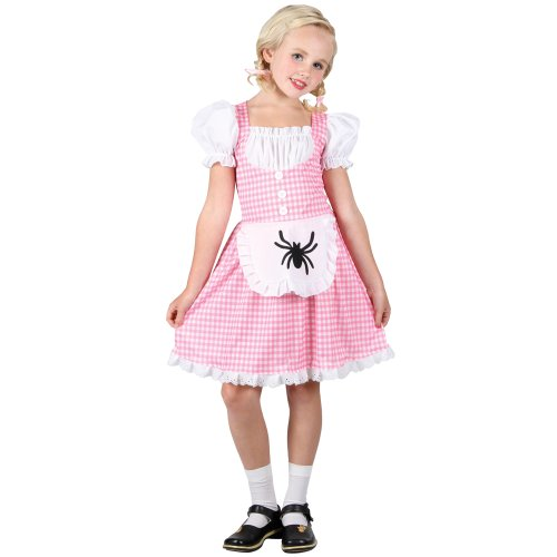 [Girls Large Storybook Miss Muffet Outfit Costume for Fairytale Fancy Dress] (Storybook Fairytale Costumes)