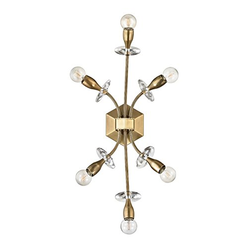 Alexandria 6-Light Wall Sconce - Aged Brass Finish