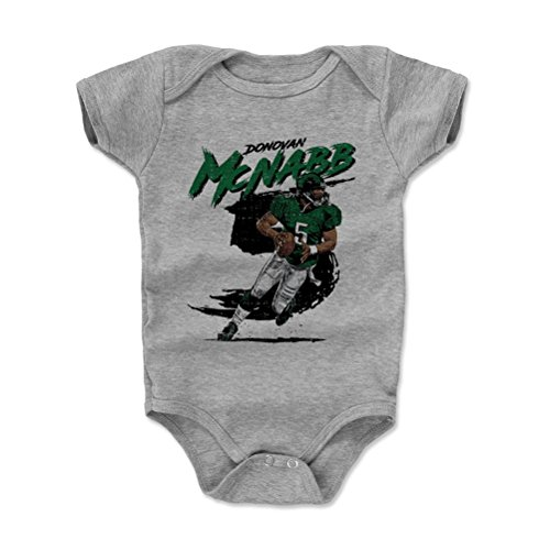 Bowl 10 Rough (500 LEVEL Donovan McNabb Baby Clothes, Onesie, Creeper, Bodysuit 6-12 Months Heather Gray - Vintage Philadelphia Football Baby Clothes - Donovan McNabb Rough G)