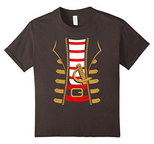 Kids Pirate Costume Shirt - Funny Sword Buccaneer Sailer Gift Tee 12 Asphalt
