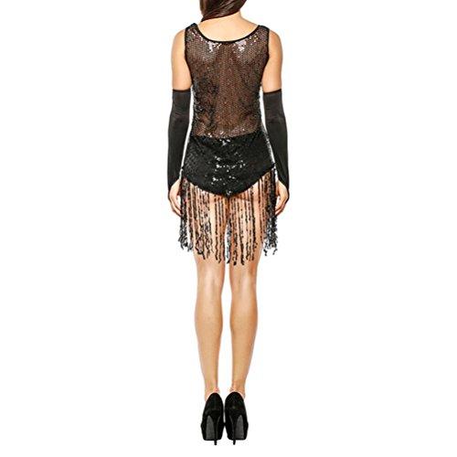 Zhuhaijq Perspective Robe De Lingerie Partie Clubwear Jupes Femme Sexy Matraquer Noir