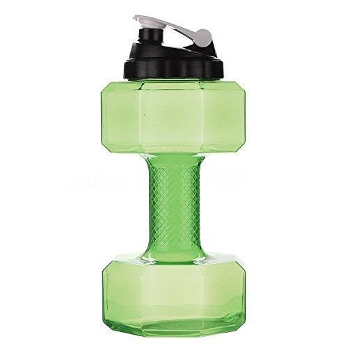 (FidgetFidget Water Bottles 2.5L Travel Dumbbell Shaped Sport Water Cup Kettle Fit Drink Gym Exercise Bottle)