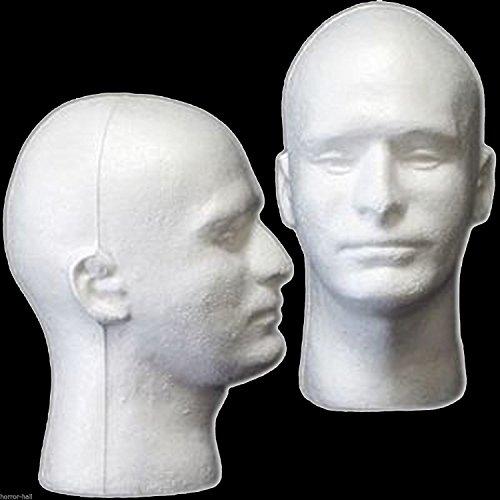 New Prop Building Supplies-MANNEQUIN HEAD-Halloween Costume Mask Wig Display-MAN -