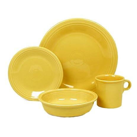 Fiesta 16-pc. Dinnerware Set Sunflower.  sc 1 st  Amazon.com & Amazon.com   Fiesta 16-pc. Dinnerware Set Sunflower.: Fiestaware ...