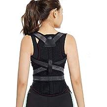 Posture Correcter Back Brace,Adjustable Breathable Comfort Clavicle & Shoulder Back Support Brace for Women and Men,Best Lower Back Support,Black L