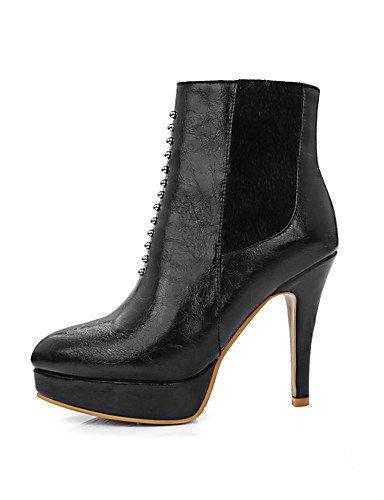 8 Bureau Rond Carrière De bout Black Printemps plate 5 Pour automne 5 Pointu Femme chaussures forme Uk7 10 Talons bottine soirée Bottes Eu41 hiver Xzz Cn42 us9 bout FZxaqa
