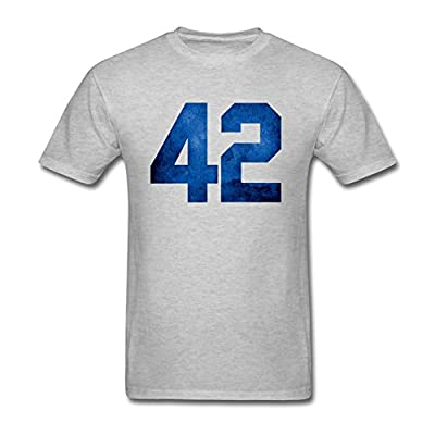 TLMKKI Men's Jackie Robinson day No 42 T-shirt
