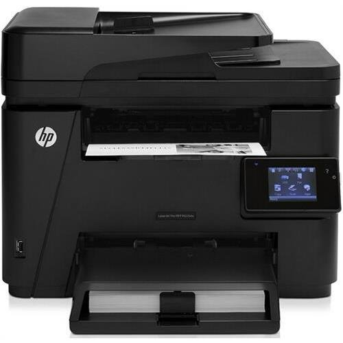 HP CF485A LaserJet Pro M225DW Laser Multifunction Printer - Monochrome - Plain Paper Print - Copier/Fax/Printer/Scanner - 25 ppm Mono Print - Automatic Duplex Print - Ethernet - Wireless (Multifunction Plain Paper Fax Machine)
