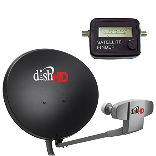 Dish Network 1000.2 & Satellite Finder Compass - 110, 119, 129 Satellites High Definition Dish Triple DPP LNB