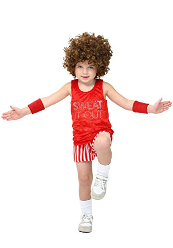 Oldies Costume (Toddler Workout Video Star Costume 4T)