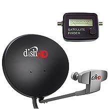 Dish Network 1000.2 & Satellite Finder Compass - 110, 119, 129 Satellites High Definition Dish Triple DPP LNB