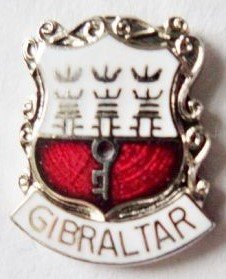 1000 Flags Limited Gibraltar Coat of Arms Small Enamel and Metal Pin Badge