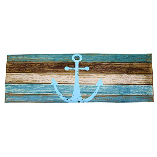 WINOMO Anchor Doormat Non Slip Nautical Home Decor 40x60cm
