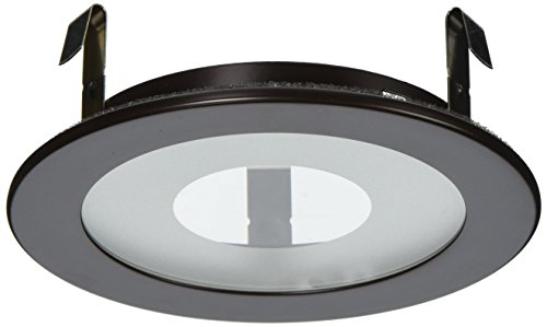 "Elco Lighting EL915BZ 4"" Shower Trim with Frosted Pinhole Glass - EL915"