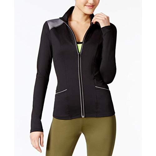 (Energie Womens Juniors Long Sleeves Running Track Jacket Black L )