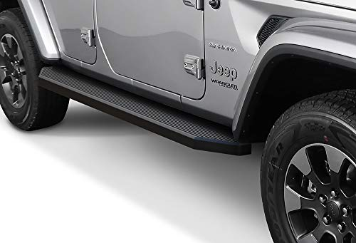 - APS iBoard Black Running Boards Style Custom Fit 2018-2020 Jeep Wrangler JL Sport Utility 4-Door (Nerf Bars | Side Steps | Side Bars)