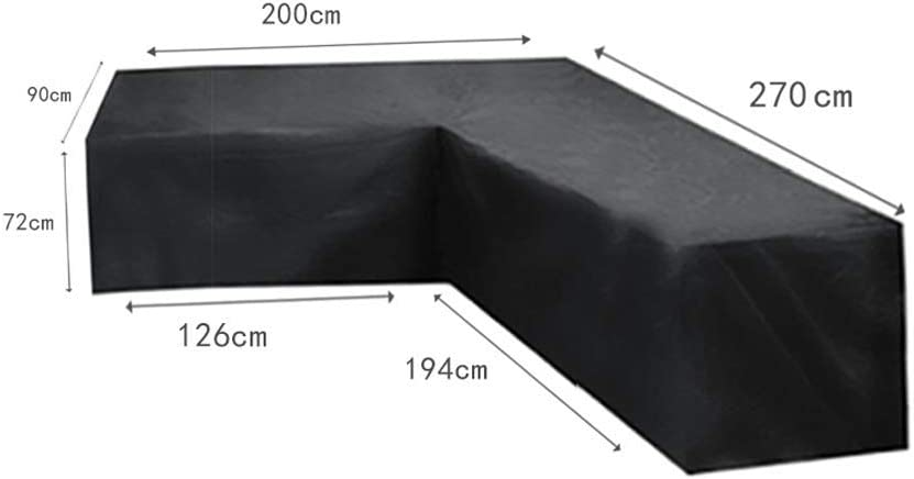 Molinter Garden Furniture Cover Corner Sofa Dust Cover L Shape Waterproof Dust Corner Bed Sofa Protective Oxford Fabric for Home Yard Outdoor Furniture
