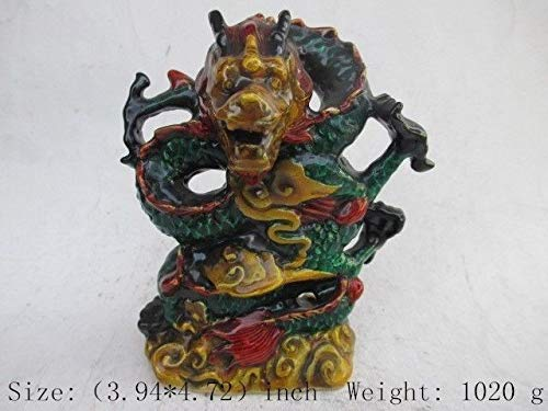 ZAMTAC Chinese Cloisonne Dragon Antique Statue ()