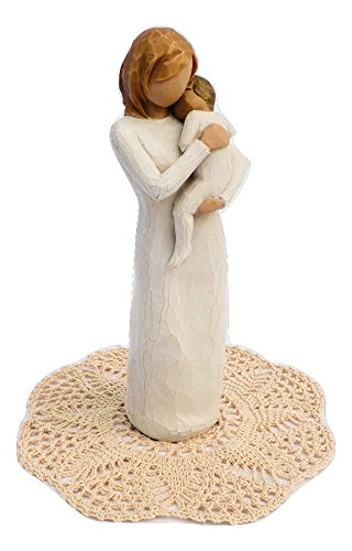 Willow Tree Family Themed Figurine with Westbraid Doily (Child of my Heart)