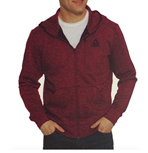 Gerry Men's Full Zip Hoody Jacket (Red Heather, XX-Large) ()