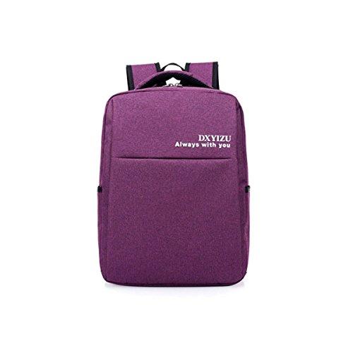 YUEER Hombres Y Mujeres Mochila Negocios Ordenador Bolsa Simple Bicicleta Viajes Ocio Viajes Al Aire Libre Llevar Impermeable,Purple Purple