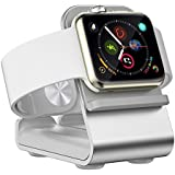 VIGLT Charging Stand for Apple Watch Stand Aluminum Charging Stand Nightstand Mode Compatible Series 5 / Series 4 / Series 3/Series 2 / Series 1 Charging Dock Station Designed for Apple Watch(Sliver)