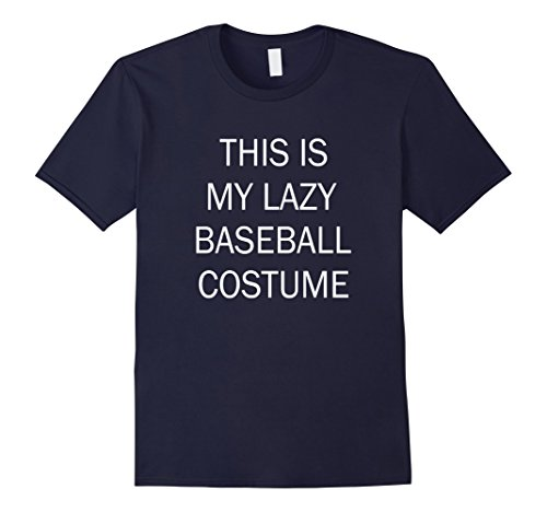 [Mens This Is My Lazy Baseball Costume XL Navy] (Simple Soccer Player Costume)