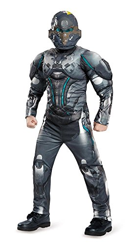 [Spartan Locke Classic Muscle Halo Microsoft Costume, X-Large/14-16] (Halloween Costumes For 14 Year Olds)