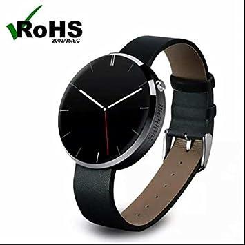 Montre connectée Big Dial, alarme chronomètre Fonction, moniteur de fréquence cardiaque, écran tactile capacitif, ...