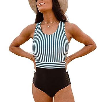 DMMW Trajes de baño para Mujer Elegante Inspirado Vintage Pin up ...