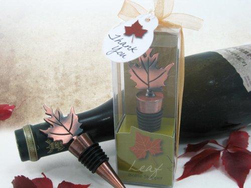 Artisano Designs ''Bronze Elegance'' Fall Leaf Bottle Stopper in Designer Gift Box