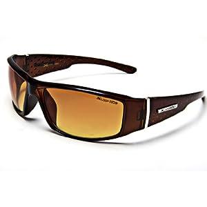 XL12 Style 1 X-Loop Eyewear BROWN HD High Definition Men's Outdoor Sport Sunglasses