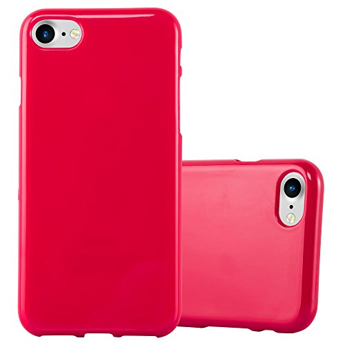 Cadorabo - Cubierta protectora para >                          Apple iPhone 8 / 7 / 7S                          < de silicona TPU en Diseño Jelly �?Case Cover Funda Carcasa Protección Jalea en JELLY-AMARILLO JELLY-ROJO