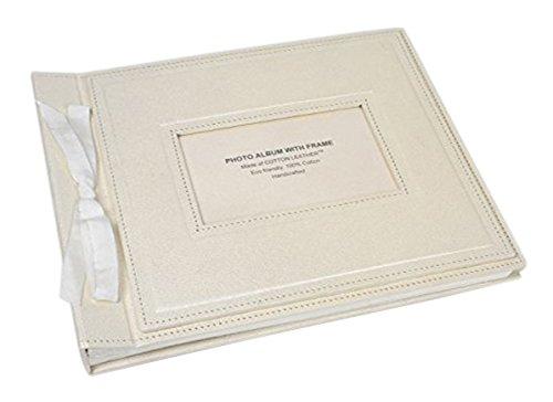 Arcadia Home RCA2I Photo Album in Pearl with Photo Window , Ivory (Photo Wedding Album Natural)