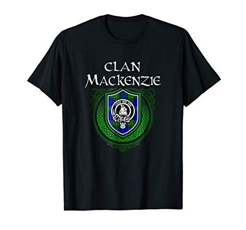 MacKenzie Surname Scottish Clan Tartan Crest Badge T-shirt