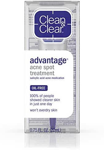 Clean & Clear Advantage Acne Spot Treatment, Acne Medication, .75 Oz.