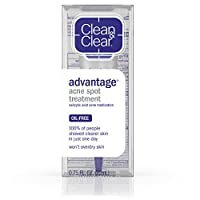 Clean & Clear Advantage Acne Spot Treatment, Salicylic Acid Acne Medication,.75 fl. Oz