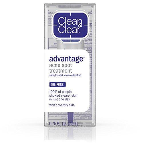 Clean & Clear Advantage Acne Spot Treatment, Acne Medication, .75 Oz.