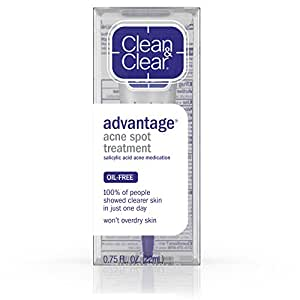 Clean & Clear Advantage Acne Spot Treatment, Salicylic  Acid Acne Medication, .75 fl. Oz