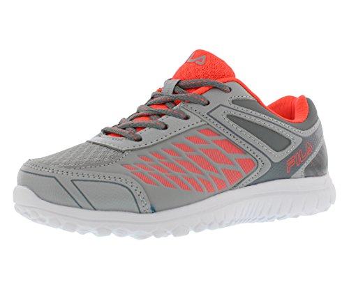 Fila Lightning Strike Boys Athletic Shoes Size US 7, Regular Width, Color Grey/Coral