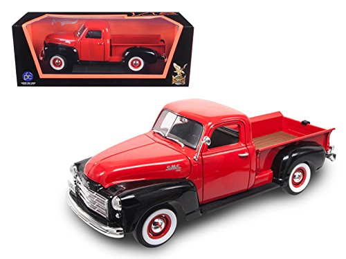 Maisto 1950 GMC Pickup Truck Red/Black 1/18 Model Car by Road Signature