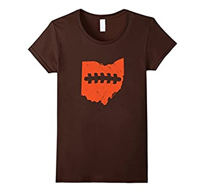Ohio outline football laces Cleveland Football Fan Shirt