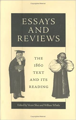 com essays and reviews the text and its reading  com essays and reviews the 1860 text and its reading victorian literature and culture series 9780813918693 victor shea william whitla books