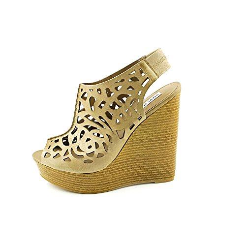 Steve Madden Gabel Damen Beige Plattformen Sandalen Schuhe Neu/Display EU 40