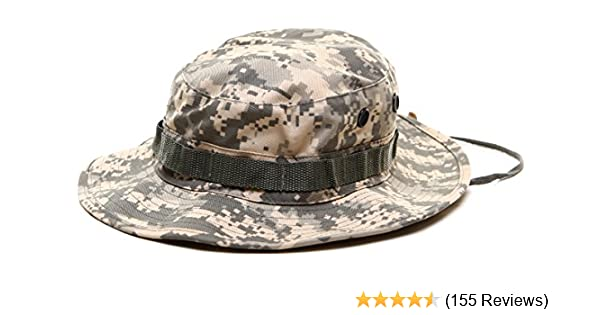 Amazon.com  ACU Digital Camouflage Military Wide Brim Jungle Bucket Fishing  Camping Boonie Hat with Chin Strap  Clothing 6572d550521